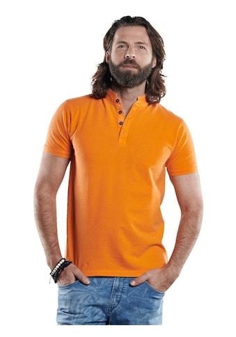 emilio adani Sommerlich gefärbtes Poloshirt mit Stehkragen kaufen