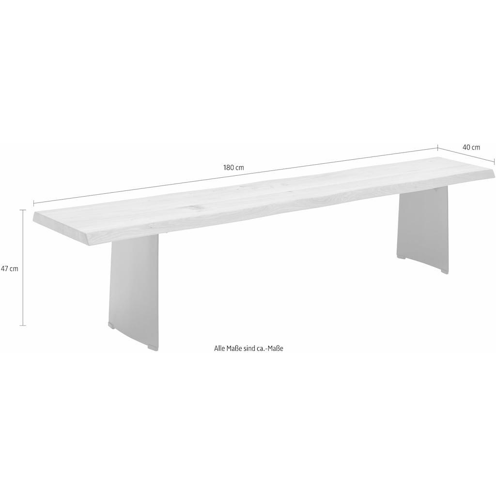NIEHOFF SITZMÖBEL Sitzbank »Tree Top«, mit nachgebildeter Baumkante, in 4 Breiten