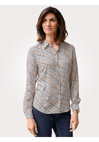 Mona Hemdbluse, mit grafischem Muster kaufen