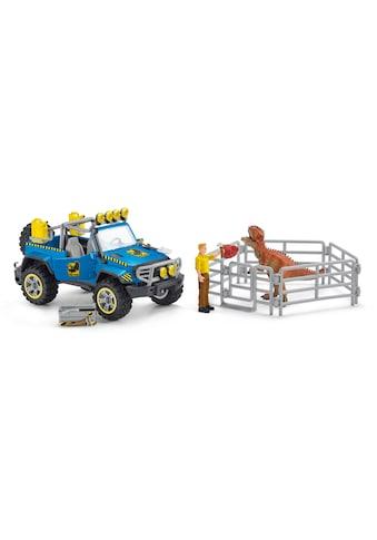 Schleich® Spielzeug-Auto »Dinosaurs, Geländewagen mit Dino-Außenposten (41464)« kaufen