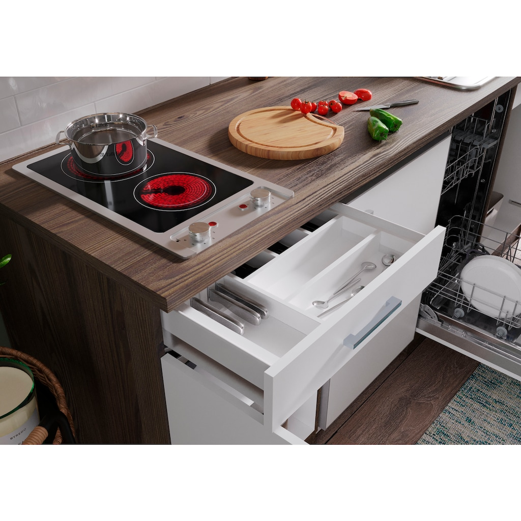 RESPEKTA Küchenzeile »York«, mit E-Geräten, Breite 225 cm