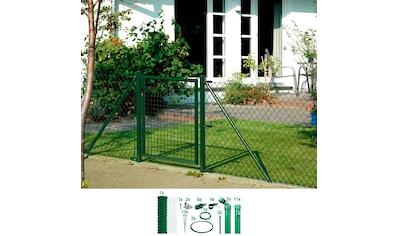GAH Alberts Maschendrahtzaun, 125 cm hoch, 25 m, grün beschichtet, mit Bodenhülsen kaufen