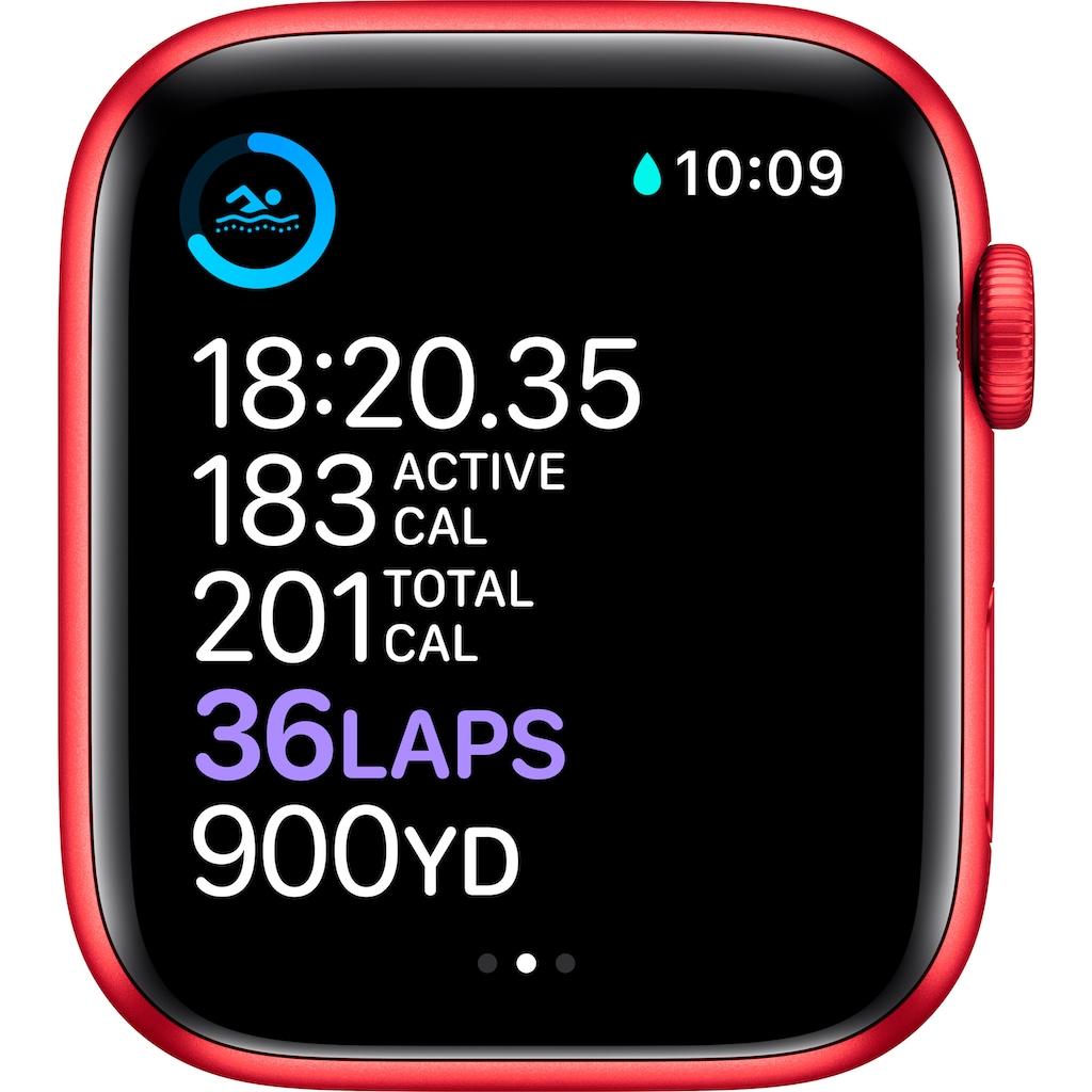Apple Watch »Series 6 GPS, Aluminiumgehäuse mit Sport 40mm«, (Watch OS 6 inkl. Ladestation (magnetisches Ladekabel)