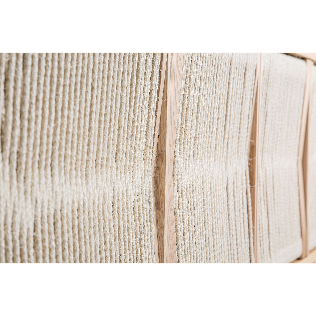 Woodman Sideboard »Lidia«, mit Türenfronten aus geflochtenem nartürlichem Hanfseil, Breite 180 cm