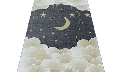 Ayyildiz Kinderteppich »FUNNY 2101«, rechteckig, 11 mm Höhe, Kinder Mond Sterne... kaufen