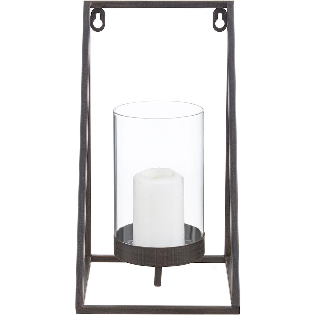 andas Wandkerzenhalter »Industrial Candleholder«, Kerzen-Wandleuchter, Kerzenhalter, Kerzenleuchter hängend, Wanddeko, aus Metall