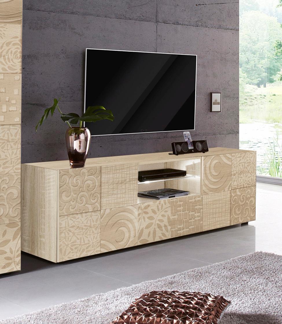 LC Lowboard Miro, Breite 181 cm mit dekorativem Siebdruck günstig online kaufen