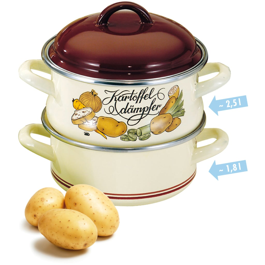 Elo - Meine Küche Dampfgartopf, Emaille, (1 tlg.)