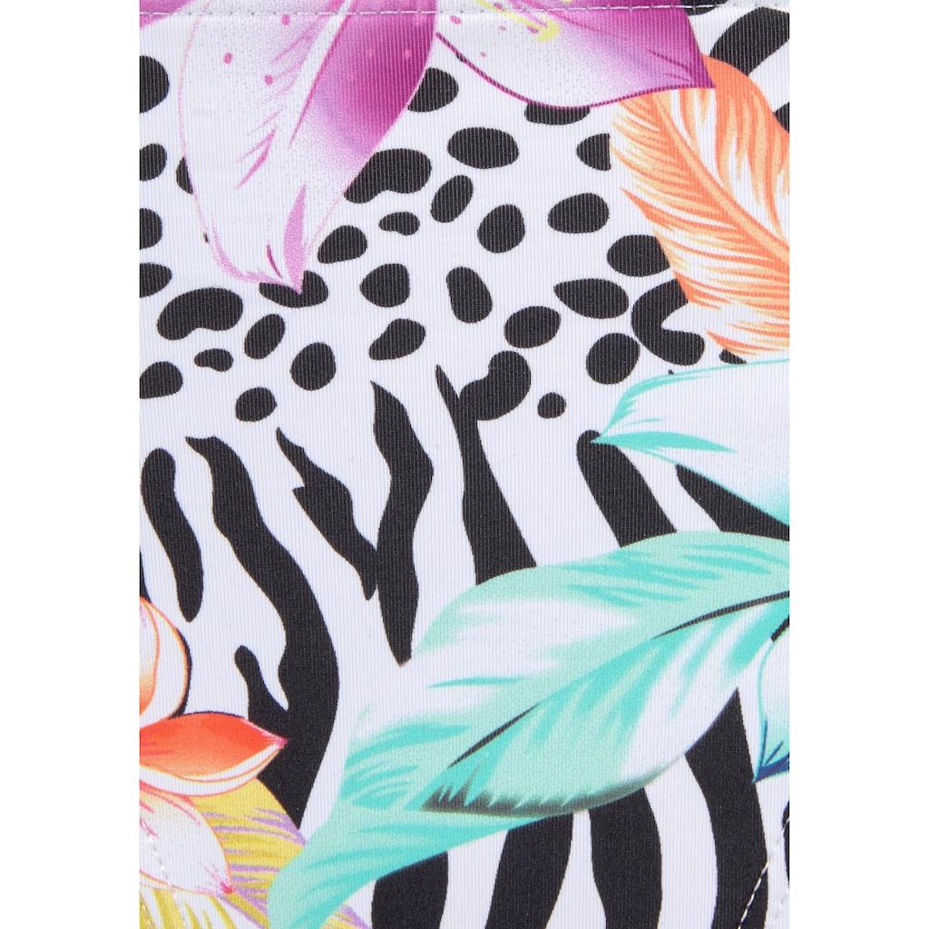 LASCANA Bügel-Bandeau-Bikini, mit trendigem Animalprint