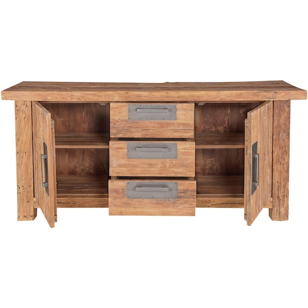 SIT Sideboard »Coral«, aus recyceltem Altholz Teak