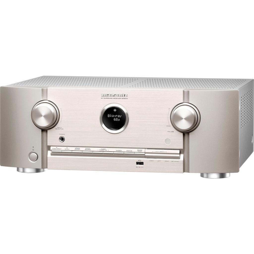 Marantz AV-Receiver »SR5015«, 7.1, (Bluetooth-WLAN-LAN (Ethernet) Video Upscaling-USB-Mediaplayer-Timer), mit 7-Kanal-Endstufe