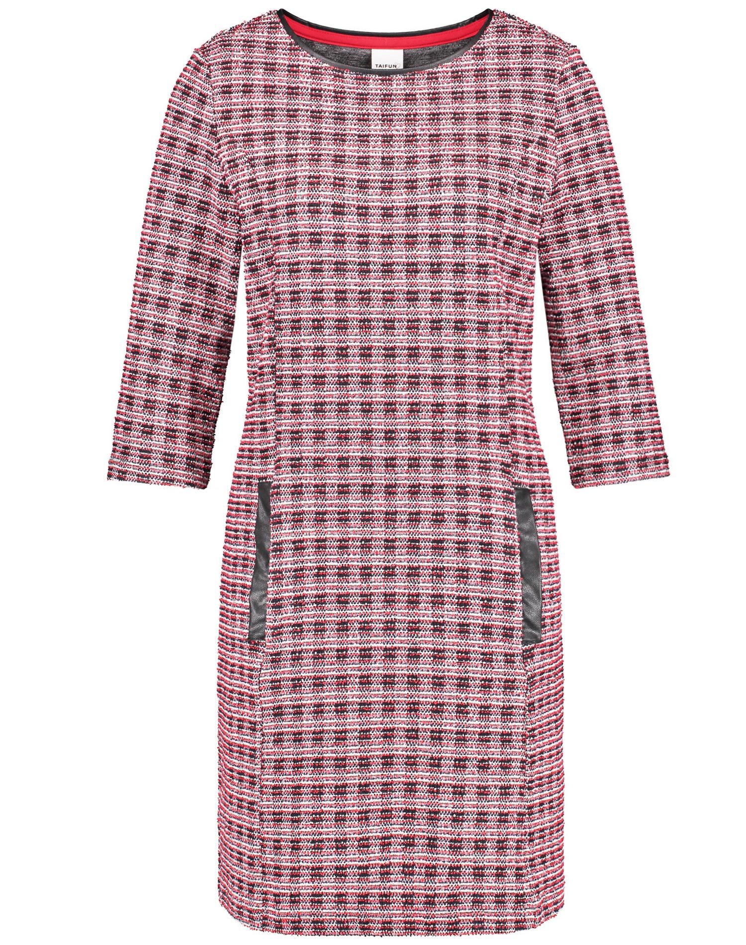 TAIFUN Kleid Gewirke »Jacquard-Kleid mit 3/4 Arm«