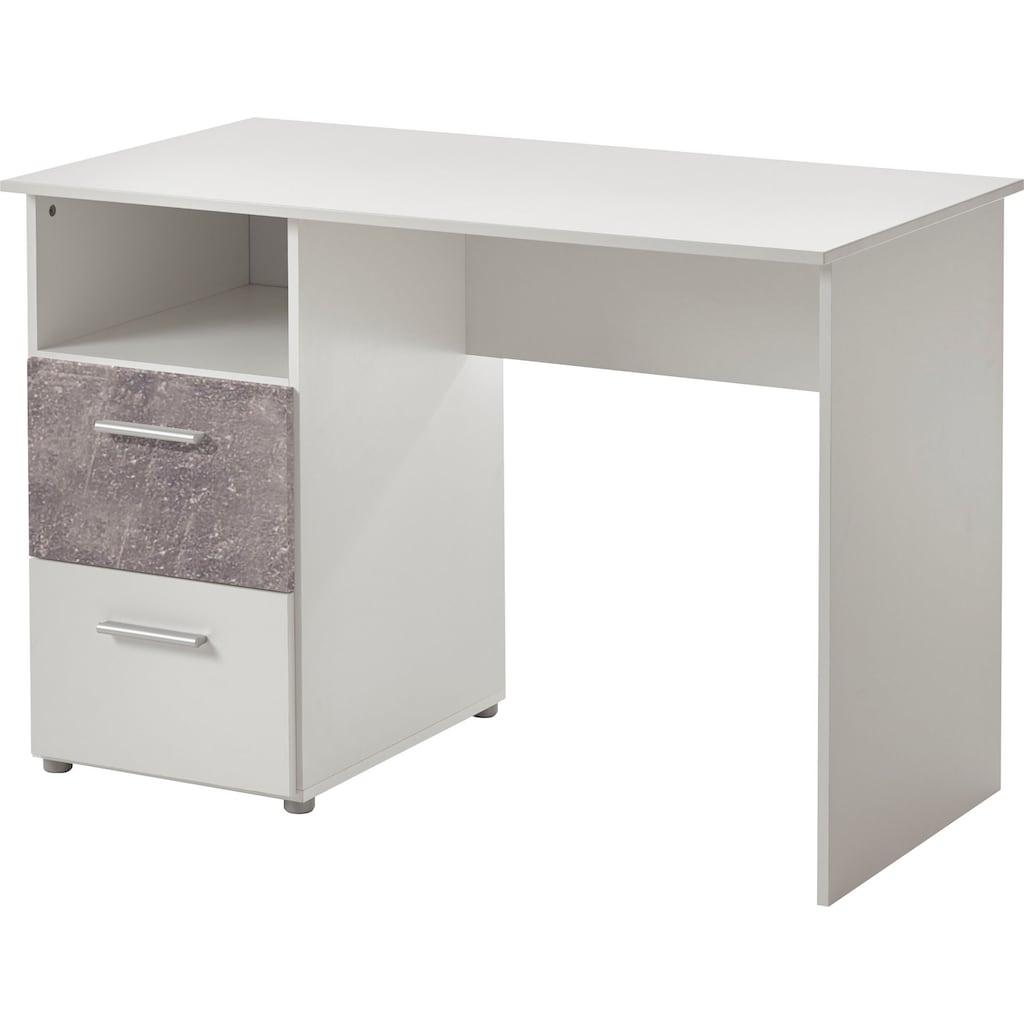 arthur berndt Jugendzimmer-Set, (5 St., Bett + 3 trg. Schrank + Schreibtisch + Regalwagen + Lowboard), mit Melamin-Oberfläche