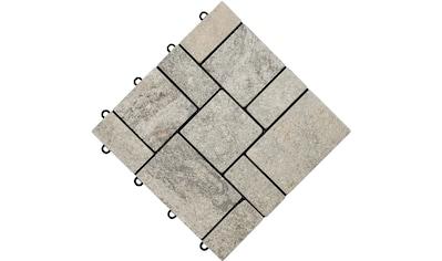 florco® Terrassenplatten »stone«, Klickfliesen kaufen