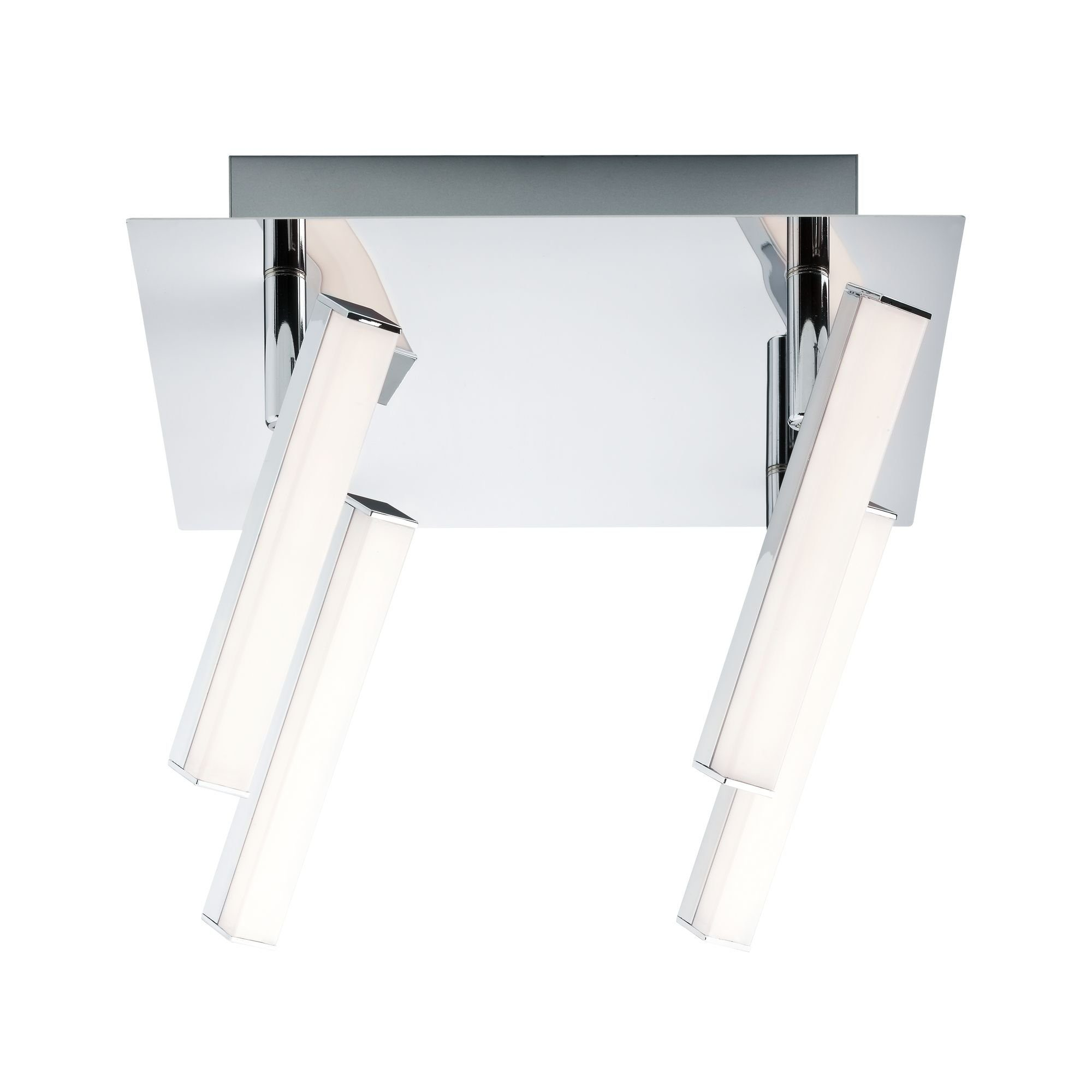Paulmann LED Deckenleuchte 4er-Spot Chrom Silberfarben Pole 4x4,2W, 1 St., Warmweiß