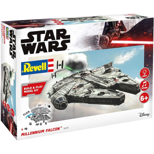 "Revell® Modellbausatz ""Build & Play-Disney Star Wars™ Millennium Falcon™"", Maßstab 1:164"