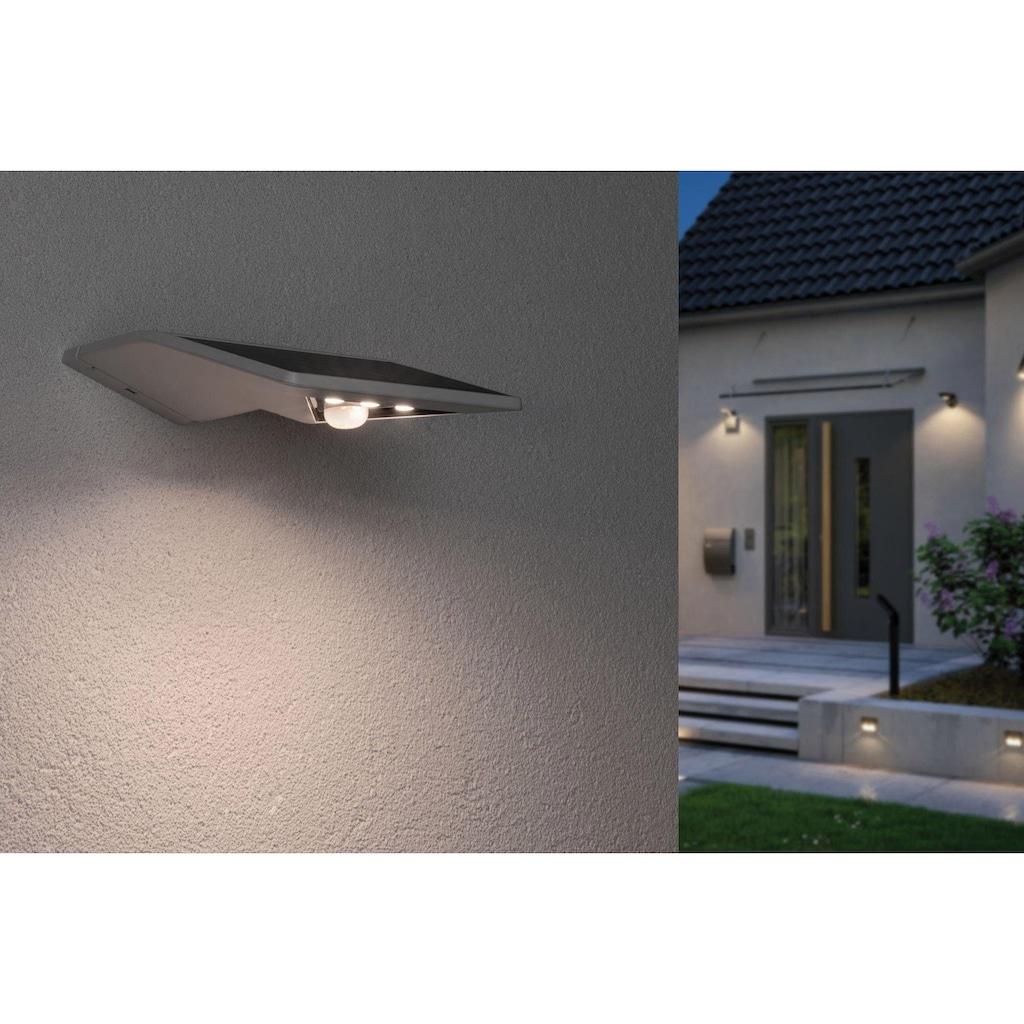 Paulmann LED Außen-Wandleuchte »Solar Yoko Weiß mit Bewegungsmelder 3000K«, Warmweiß