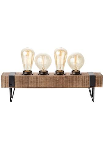 Brilliant Leuchten Tischleuchte »Woodhill«, E27, 1 St., Tischlampe 4flg antik/schwarz kaufen