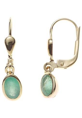 JOBO Paar Ohrhänger, oval 585 Gold mit Smaragd kaufen