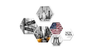 Wall-Art Mehrteilige Bilder »Typisch New York Collage«, (Set, 6 St.) kaufen