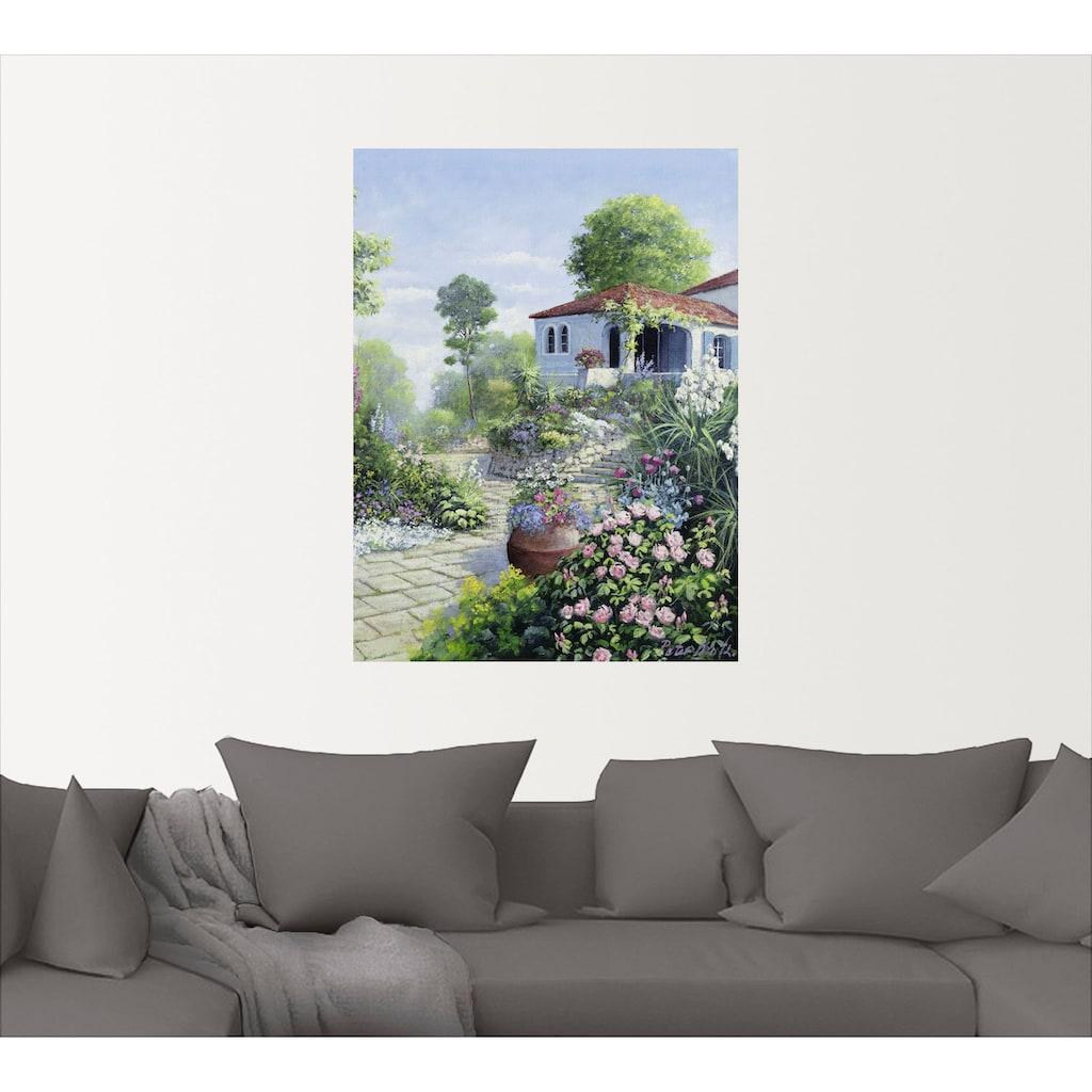 Artland Wandbild »Italienischer Garten I«, Garten, (1 St.), in vielen Größen & Produktarten -Leinwandbild, Poster, Wandaufkleber / Wandtattoo auch für Badezimmer geeignet