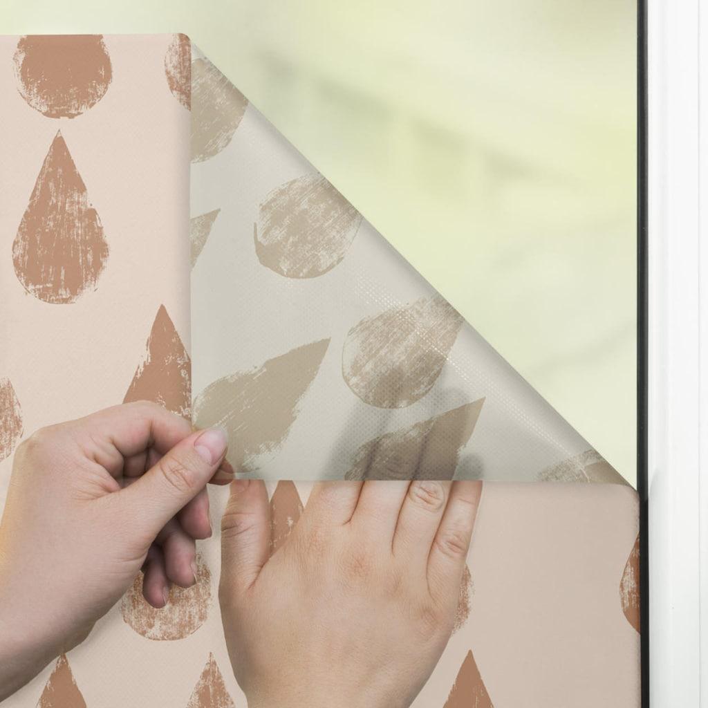 LICHTBLICK ORIGINAL Fensterfolie »Fensterfolie selbstklebend, Sichtschutz, Golden Drops - Gold«, 1 St., blickdicht, glattstatisch haftend