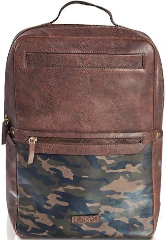 Packenger Laptoprucksack »Urban Dallas, Camouflage mit Powerbank und USB - Schleuse« kaufen