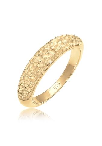 Elli Fingerring »Bandring Basic Gehämmert Trend Cool 925 Silber« kaufen