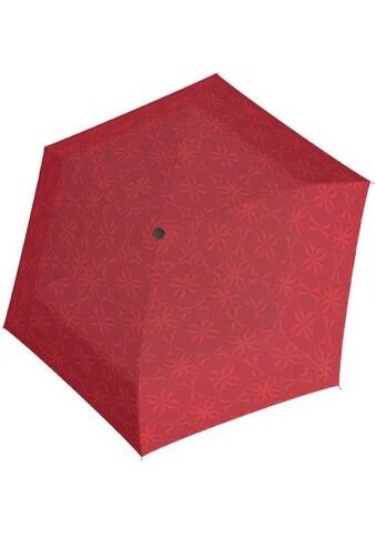 doppler® Taschenregenschirm »Carbonsteel Mini Slim Bloom, rot« kaufen