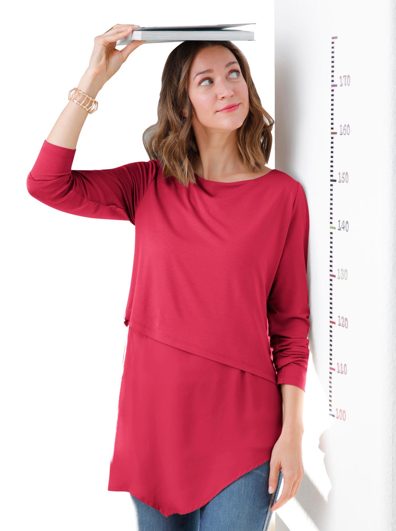 Alessa W. Blusenshirt mit mehreren asymmetrischen Lagen übereinander | Bekleidung > Shirts > Blusenshirts | Alessa W.