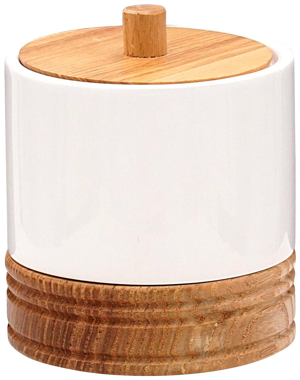 Ridder Kosmetikbox Chic, für Wattepads weiß Bad Sanitär Aufbewahrungsboxen