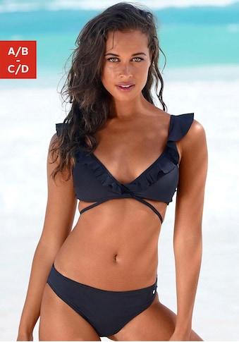 s.Oliver Beachwear Triangel-Bikini, Rüschen am Top kaufen