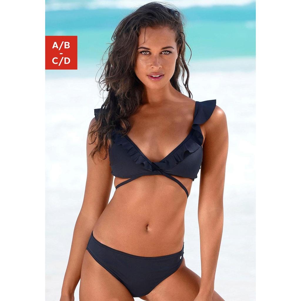 s.Oliver Beachwear Triangel-Bikini, Rüschen am Top