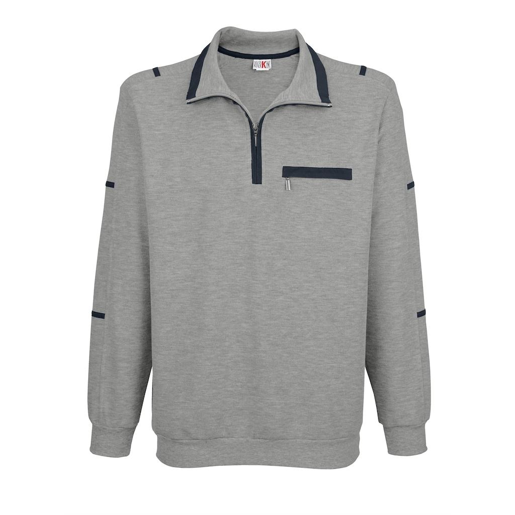 Roger Kent Sweatshirt mit Kontrast-Besätzen