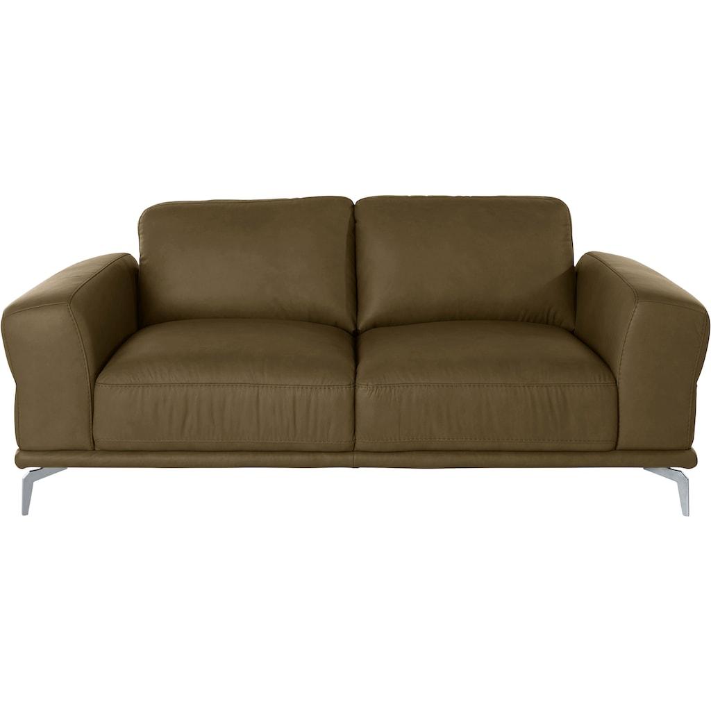 W.SCHILLIG 2-Sitzer »montanaa«, mit Metallfüßen in Silber matt, Breite 192 cm