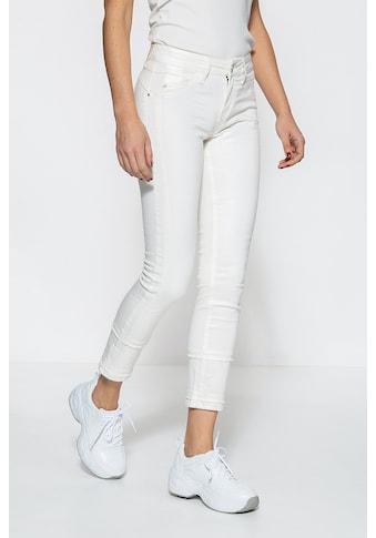ATT Jeans Slim-fit-Jeans »Belinda«, mit Schmuckelementen und gekürzter Beinlänge kaufen