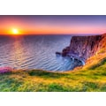 Papermoon Fototapete »Sunset at Moher Cliffs«