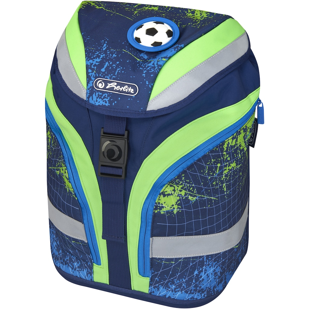Herlitz Schulranzen »Grundschulrucksack SoftFlex Plus Kick«, Floureszierende Flächen-reflektierende Streifen auf den Schultergurten