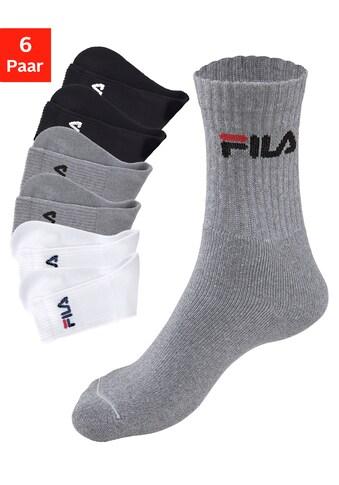 Fila Tennissocken, (6 Paar), mit eingestricktem Logo kaufen