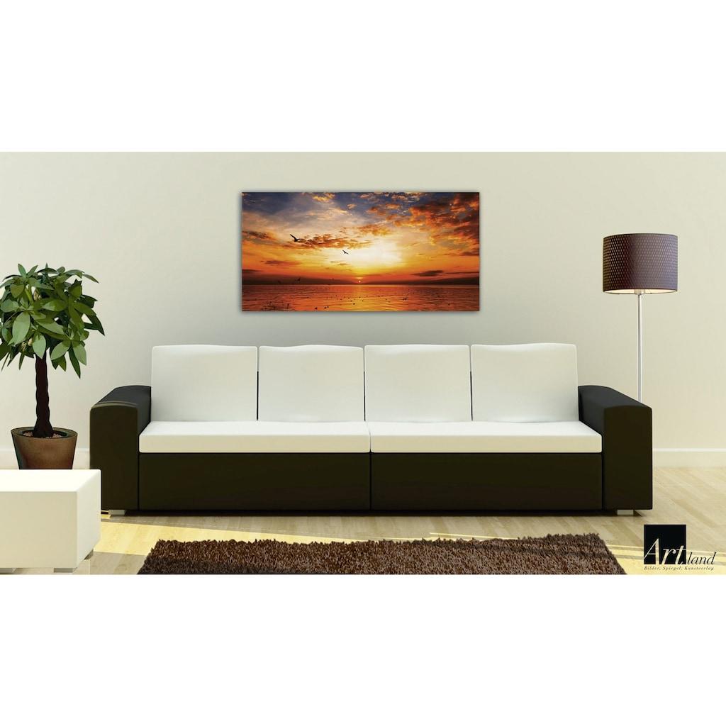 Home affaire Leinwandbild »Songchai W: Sonnenuntergang am Strand mit Himmel«, 100/50 cm