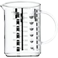 WMF Messbecher »Gourmet«, Glas, (1), Kleinstmengen genau ablesbar. Angabe der Messskalen in Liter, Milliliter, Tassen und Gramm