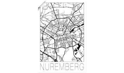 Artland Wandbild »Retro Karte Nürnberg Deutschland« kaufen