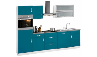 wiho Küchen Küchenzeile »Amrum«, mit E-Geräten, Breite 280 cm, mit Induktionskochfeld kaufen