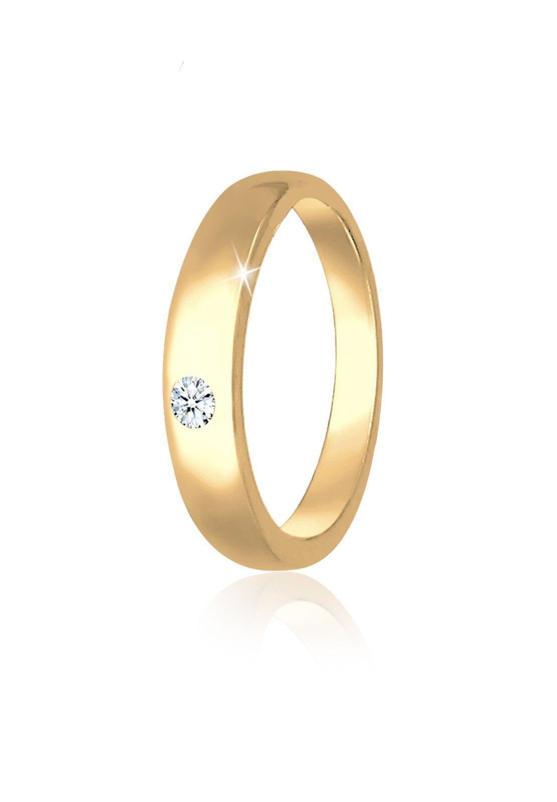 Elli Kettenanhänger Kinder Taufring Diamant (001 ct) 585 Gelbgold   Schmuck > Halsketten   Elli