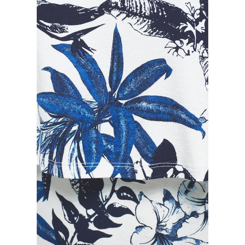 Boysen's Maxikleid, im Lagenlook mit Tropical-Design