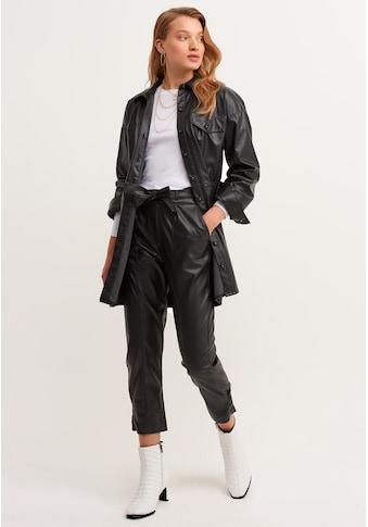 OXXO Lederhose, mit Bunddetails kaufen