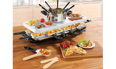 GOURMETmaxx Raclette und Fondue - Set Raclette -  und Fondue Set, 12 Raclettepfännchen, 1600 Watt kaufen