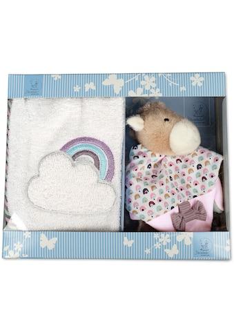 Sterntaler® Schmusetuch »Geschenk-Set Pauline«, mit Lätzchen kaufen