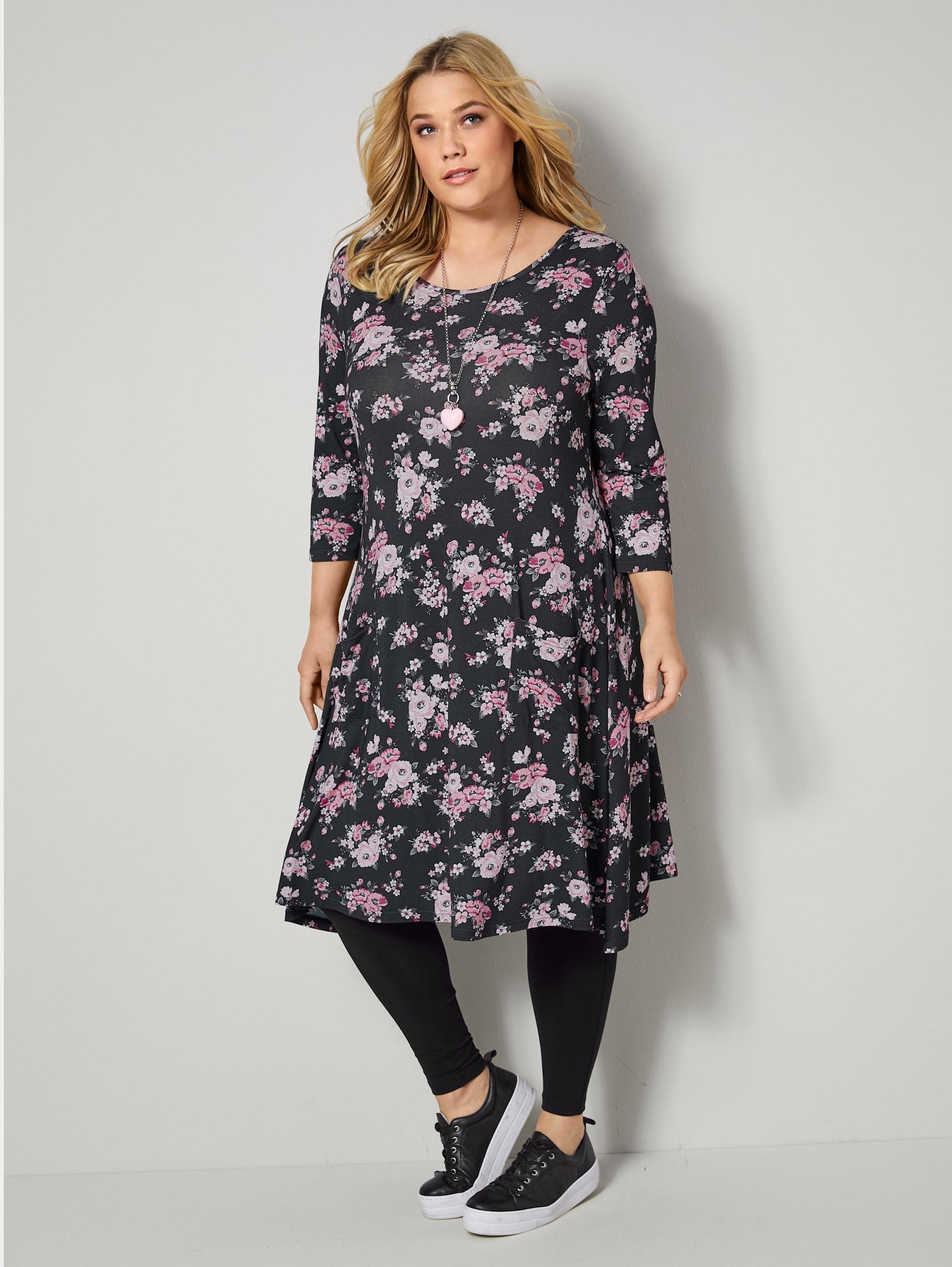 janet & joyce by happysize -  Jerseykleid, mit floralem Druck