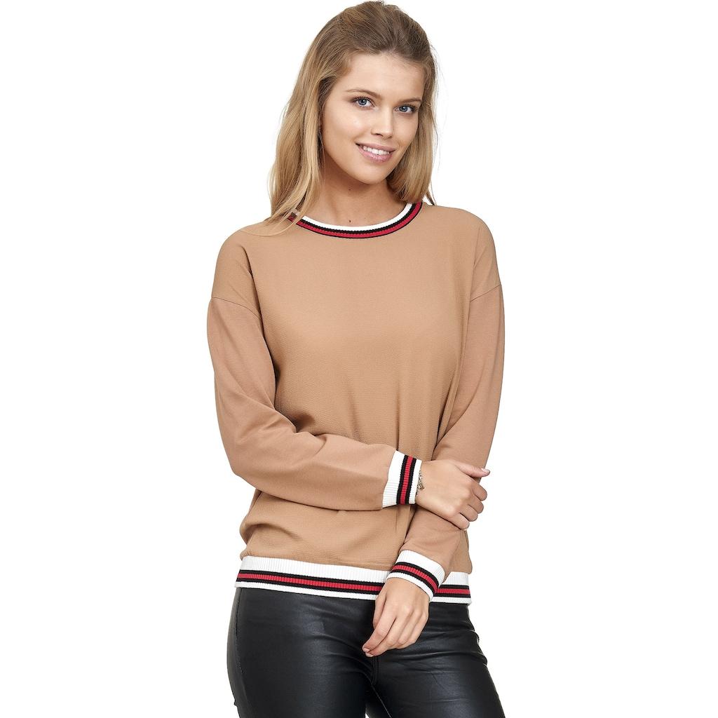 Decay Sweatshirt, mit gestreiften Bündchen